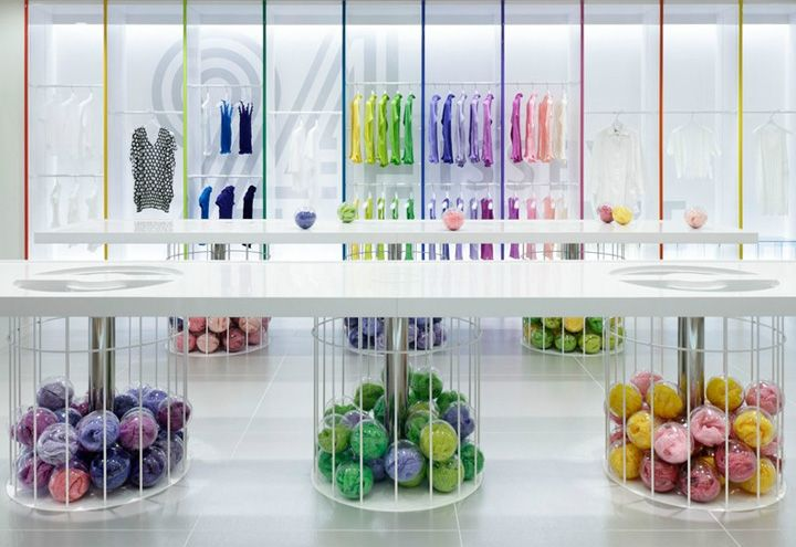 24 Issey Miyake store by Moment Design, Hakata store design - Colorful and Classy