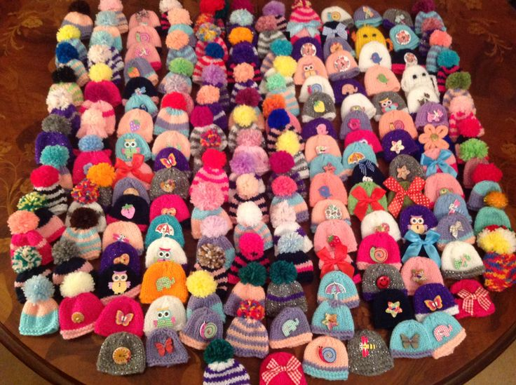 My 170 hats knitted for the Big Knit 2016/17 campaign
