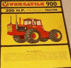 Versatile 900 | Tractor & Construction Plant Wiki | FANDOM