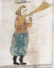 Heimdall. Picture from the 17th century Icelandic manuscript en:AM 738 4 to, now in the care of the Árni Magnússon Institute in Iceland. Liste over personer i norrøn mytologi - Wikipedia