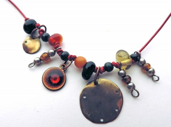 Crepundia necklace, inspired by ancient Roman amulet sets