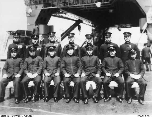 Madagascar - Members of the Japanese imperial navy midget submarine attack group which included those who carried out the attacks on Diego Suarez. P00325.001   AWM