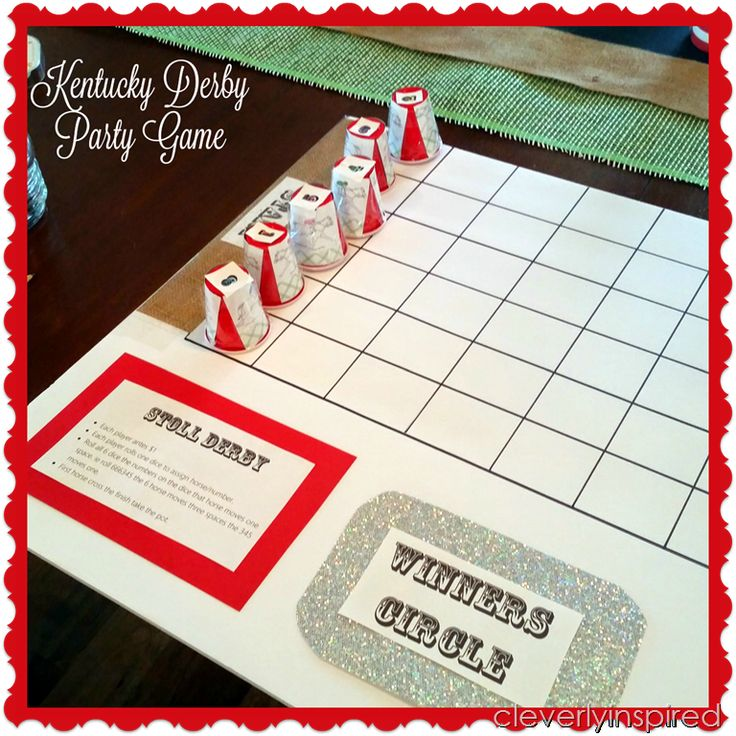 DIY horse racing game (derby party game) @cleverlyinspired (1)