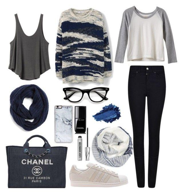 """""""Blue"""" by julimoli27 on Polyvore featuring moda, MANGO, BCBGeneration, BP., adidas Originals, Armani Jeans, RVCA, Chanel, Zero Gravity y Bare Escentuals"""