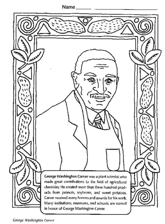 Coloring Pages For Black History Month Designs Trend