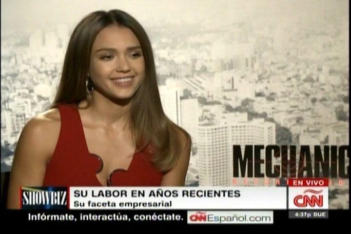 Jessica Alba habla de su regreso al cine en el papel de ¨Mechanic¨ en la…