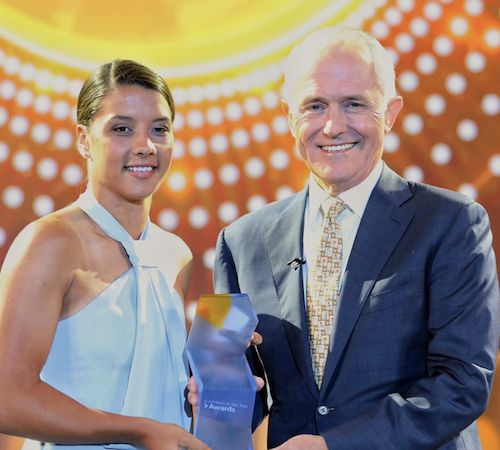 Congratulations to Sam Kerr on another gong - this time Young Australian of the Year. 26.01.18