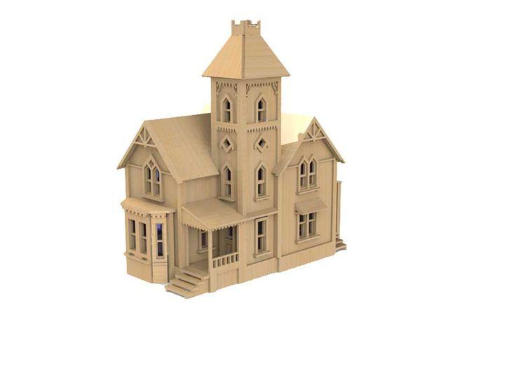 Grafton House (HO Scale) - Model Railway   MakeCNC.com