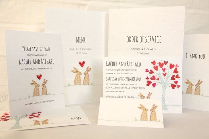 wedding invitation graphic rabbit - Szukaj w Google