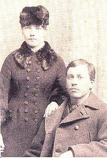 Laura Ingalls Wilder and Almanzo Wilder after they were married.