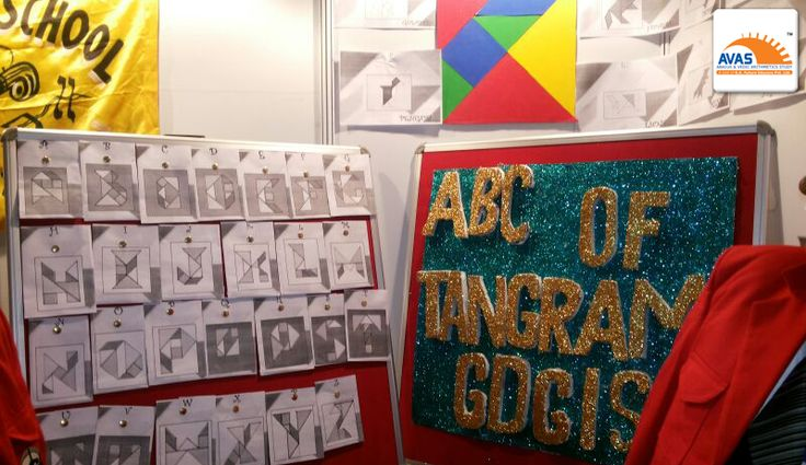 Exclusive Model on TANGRAMS presented in National Math Expo, organized by AVAS India, at IIT Delhi