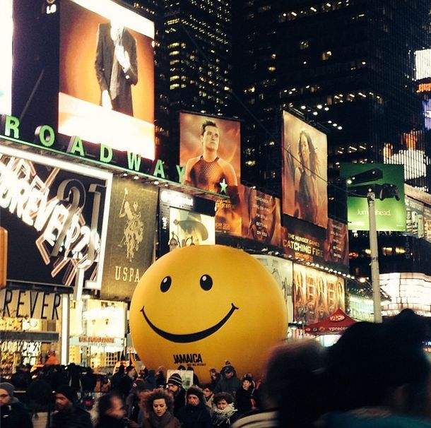 Jamaica Tourism Agency Places Giant Stress Ball in Times Square New York