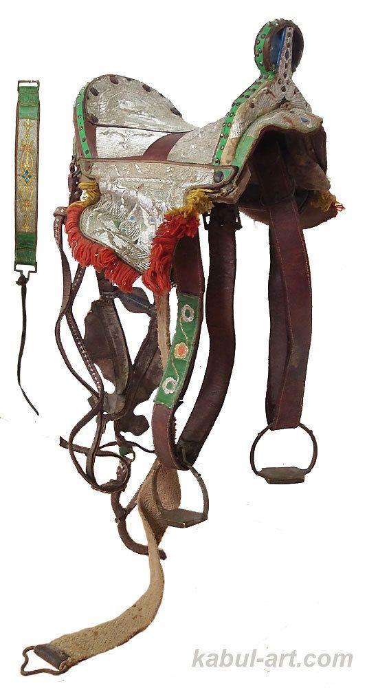 Antique islamic Embroidered horse Saddle orient pferde Sattel  Pakistan / India