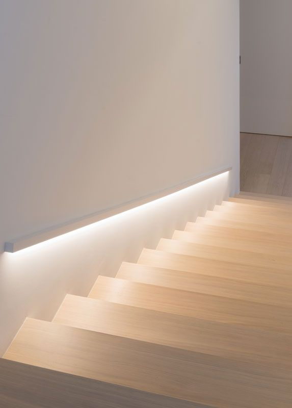 Lighting idea for guest room stairs