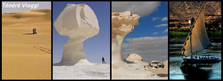 Ténéré Viaggi - EGITTO - 4 proposte per l'autunno 2013: 4x4 tra le dune cattedrali; trekking nel Deserto Bianco; fly nel Deserto Bianco; trekking e navigazione in feluca lungo il Nilo...    http://tenereviaggi.com/