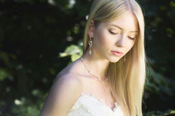 Carla - pendant, earrings.  Photography Nina Maaninka. Model Belinda Nieminen.