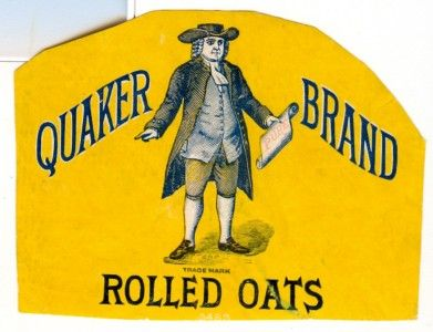 Quaker Rolled Oats | Very Old Quaker Brand Rolled Oats Yellow Label | eBay
