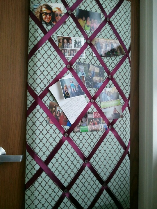 DIY picture board Cover a canvas with any fabric using hot ...