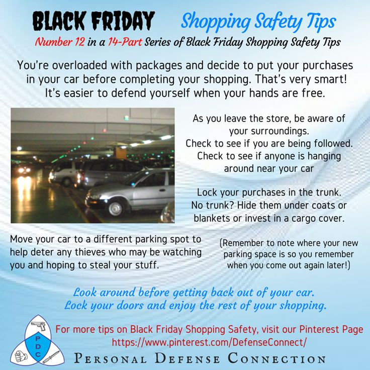 black friday shopping safety tips overloaded with packages put them in your car http www. Black Bedroom Furniture Sets. Home Design Ideas