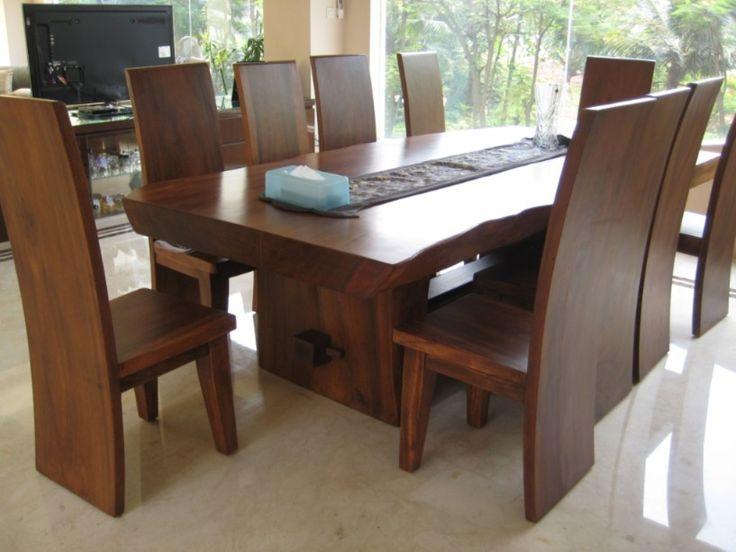 attractive Modern Elegant wood dinning sets home design ideas