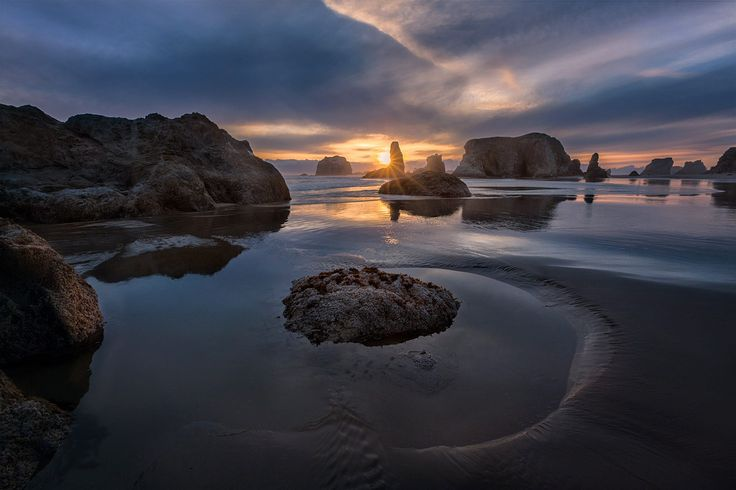 bandon sunset by donald luo on 500px