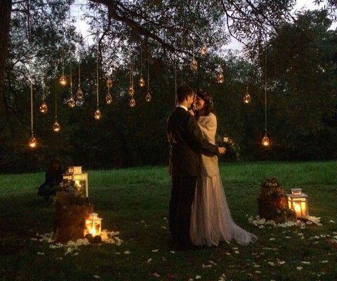 woodland wedding ceremony, свадебная церемония в лесу, лесная свадьба