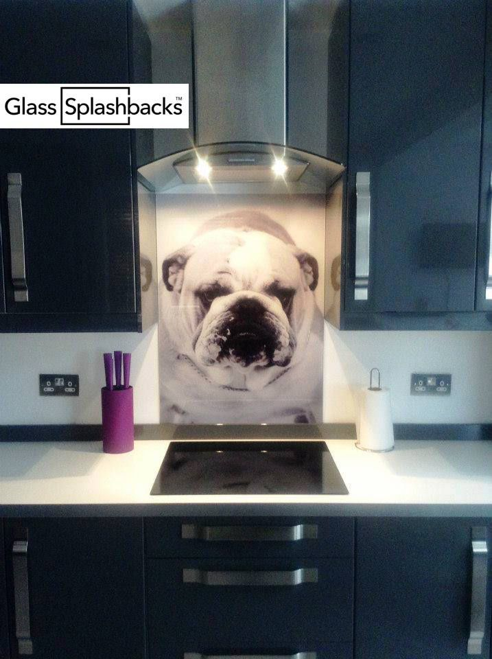 Personalised photo glass splashback. Supply your own image! We specialise in bespoke glass products for the home. You can have any image, pattern or colour! This customer sent us an image of their favourite stream for their glass cooker splashback. We digitally print to glass, and all products come with a seven year warranty. Visit glasssplashbacks.com to discover more.