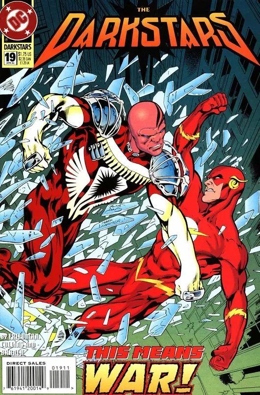Darkstars #19 (Apr '94) cover by Alan Davis & Mark Farmer. #Flash