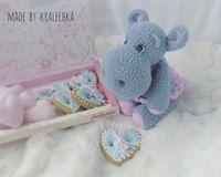 вязаный бегемот нежные и милые вязаные игрушки для малышей