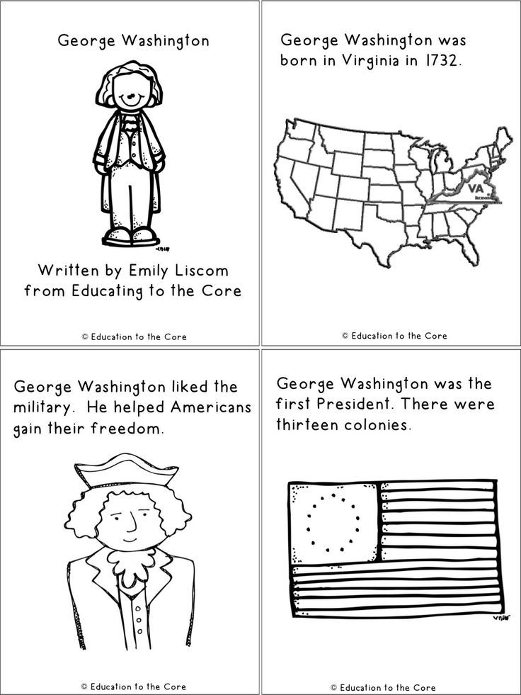 FREE George Washington Printable Mini-Book!