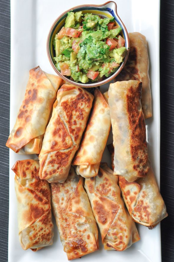 Baked Southwestern Egg Rolls- The perfect game day snack or light dinner. They leftovers are great reheated and you can freeze them | Nutritious Eats