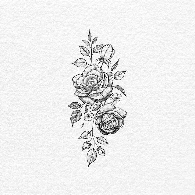 Rose hip tattoo idea