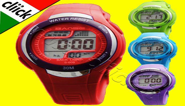 € 4,50 - SANSE Orologio Sport Quarzo Polso Cronografo Digitale Impermeabile da per donna