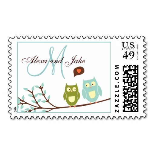 Monogram M Names Love Owls Wedding Postage Stamp In our offer link above you will seeReview          	Monogram M Names Love Owls Wedding Postage Stamp Review from Associated Store with this Deal...
