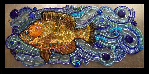 Featured artist Stephanie Failmegzer presents her portfolio of intricate Bead Mosaics.