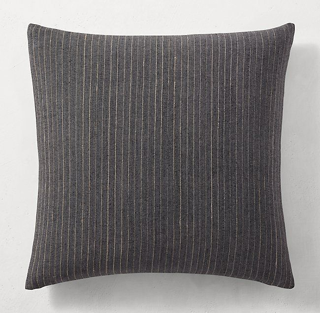 Handwoven Bhujodi Pinstripe Pillow Cover Square Pillows Hand Weaving Pillow Covers