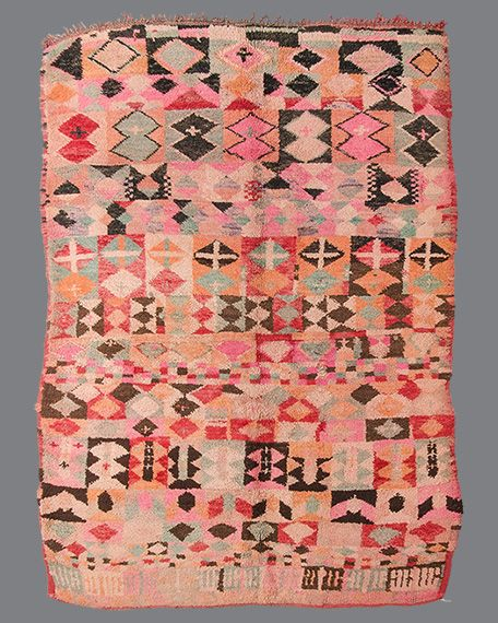 vintage Moroccan rug, Boujad #BJ20