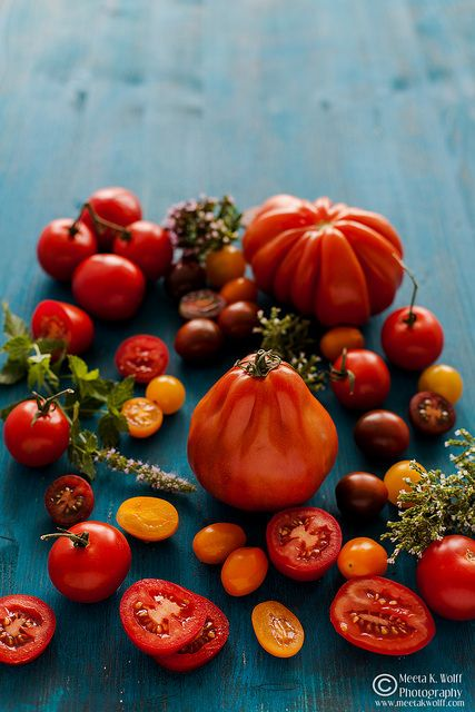 Heirloom Tomatoes #photo #vegetable #fruit