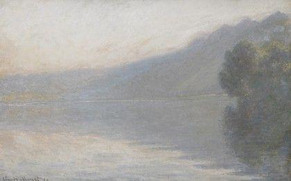 The Seine at Port-Villez, oil on canvas, 1894. Hazy landscape by Monet