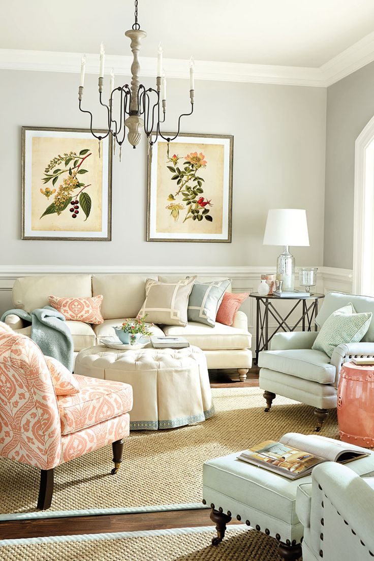 Living Room With C Color Palette From How To Decorate