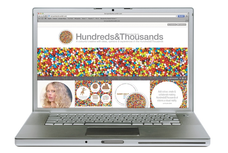 Hundreds and Thousands online blog presence - sharing in the colourful, creative and collaborative.  http://kerryannbartle.tumblr.com