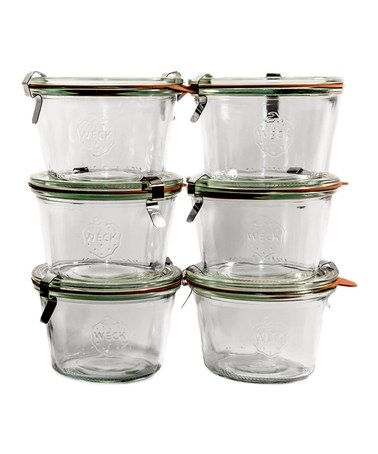 Take a look at this ACME Party Box Company 0.25L Weck Jar - Set of Six by ACME Party Box Company on #zulily today!