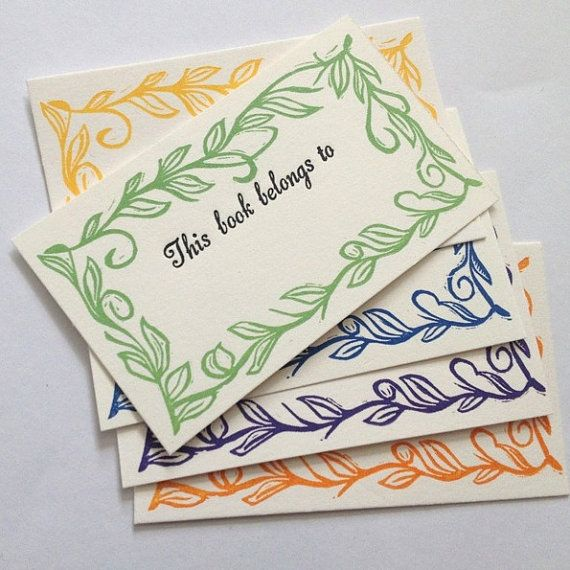 These Stunning bookplate will be lasting reminder to anyone that borrows one of your treasured books that it belongs to you and you would like it
