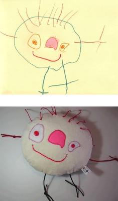Creates stuffed toys from your own drawings!