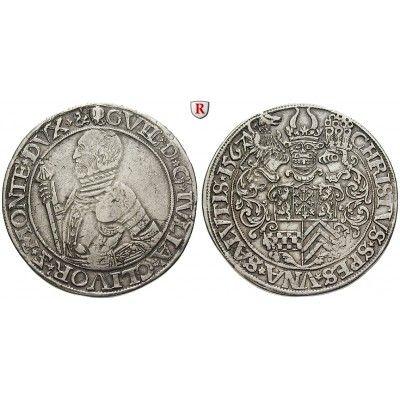 Jülich-Kleve-Berg, Herzogtum Jülich-Berg, Wilhelm V., Taler 1567, ss/ss-vz: Wilhelm V. 1539-1592. Taler 1567 Mülheim. Geharnischtes… #coins