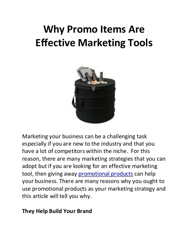 Why promo items are effective marketing tools by Steve Charles via slideshare; Promotional products, promotional bags, promo items, promo products