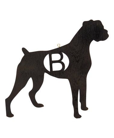 Look what I found on #zulily! Cherry Wood Stain Boxer Dog Initial Wall Décor #zulilyfinds