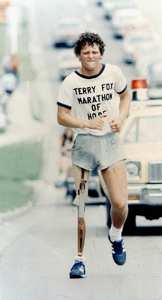 Terry Fox Marathon of Hope, a Canadian hero