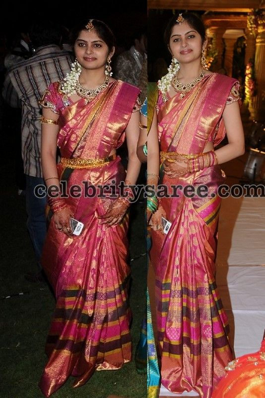 Pink Bridal Saree | Saree Blouse Patterns