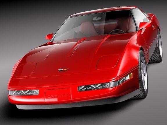 c4 corvette | Chevrolet Corvette C4 ZR1 3D Model (.3ds, .c4d, .lwo, .lw, .lws, .max ...
